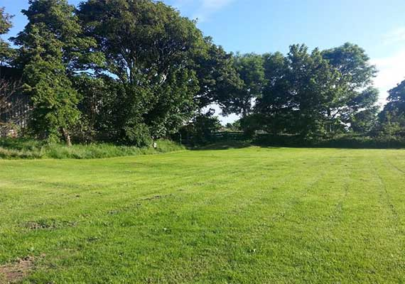 Although situated on the side of hill with amazing views all around, we have terraced our camping areas to provide level camping ground.